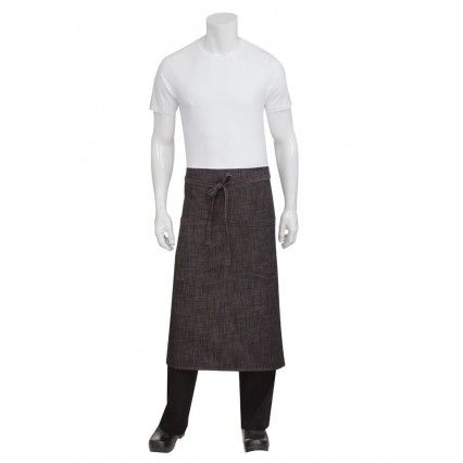 Chef Works Corvallis 3/4 Apron - Black/Burgundy -  ALWXX022