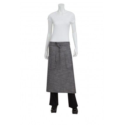 Chef Works Corvallis 3/4 Apron - Black/Grey - ALWXX022Chef