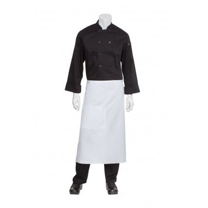 Chef Works 3/4 Bistro Apron - White - F24Chef Works,Cooks Plus