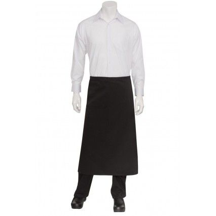 Chef Works 3/4 Bistro Apron - Black - F24Chef Works,Cooks Plus