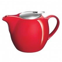 Avanti Camelia Ceramic Teapot 750ml Fire Engine Red Avanti