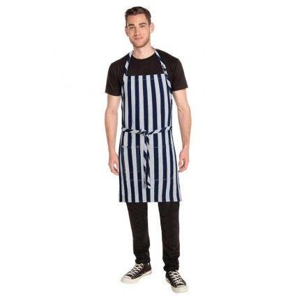 Chef Works Cheaspeake Denim Bib Apron IND/WHT -  AB033