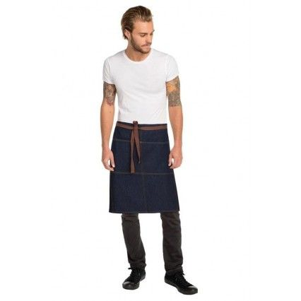Chef Works Memphis Denim 3/4 Apron - Indigo - AW049Chef