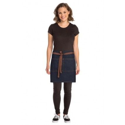 Chef Works Memphis Denim Half Apron - Indigo - AW048Chef