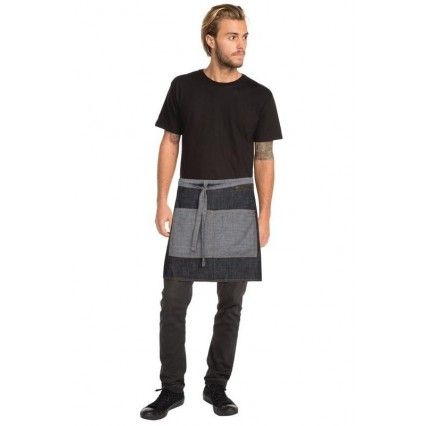 Chef Works Manhattan Half Apron Black Denim - AW046Chef