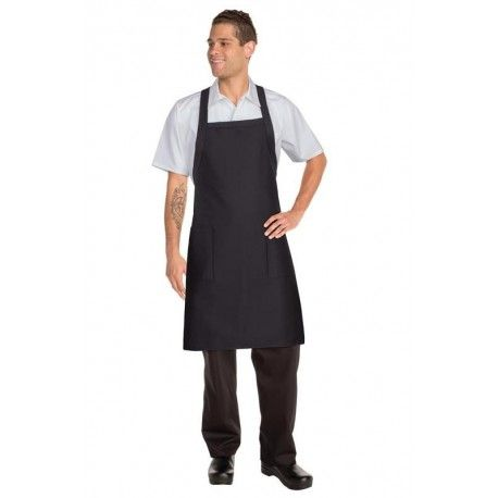 Chef Works Crossover Bib Apron - Black - F35Chef Works,Cooks