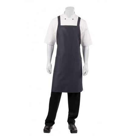 Chef Works Crossover Bib Apron - Slate - F35Chef Works,Cooks