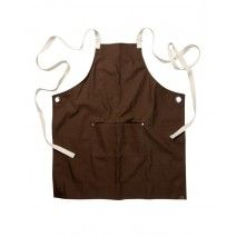 Chef Works Byron Canvas Crossback Back Apron - Brown -