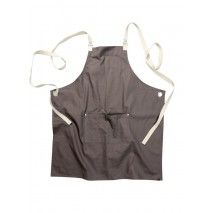 Chef Works Byron Canvas Crossback Back Apron - Grey - ACRS602