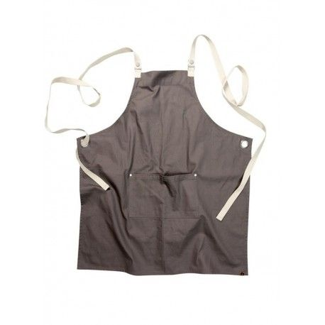 Chef Works Byron Canvas Crossback Back Apron - Grey -