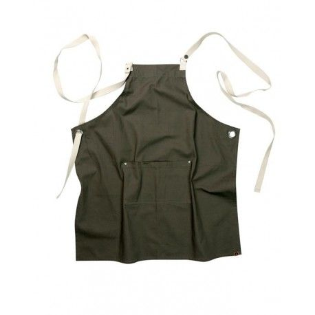 Chef Works Byron Canvas Crossback Back Apron - Khaki -