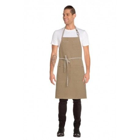Chef Works Austin Bib Apron - Natural - ABCD056Chef Works,Cooks