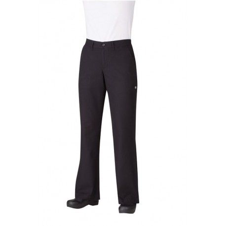 Chef Works Professional Women's Black Chef Pants -