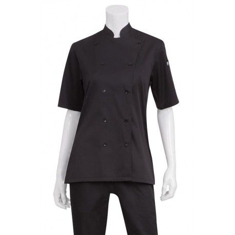 Chef Works Womens Black Chef Shirt - KL150-BLK Chef Works,Cooks
