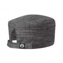 Chef Works Corvallis Black-Steel Gray Crosshatch Beanie -
