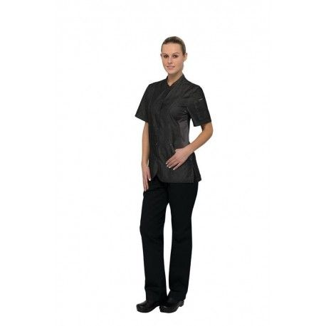 Chef Works Chelsea Black Womens Chef Jacket - CES05W-BLK Chef