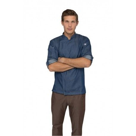 Chef Works Gramercy Blue Chef Jacket - EXDZ001-IBL Chef