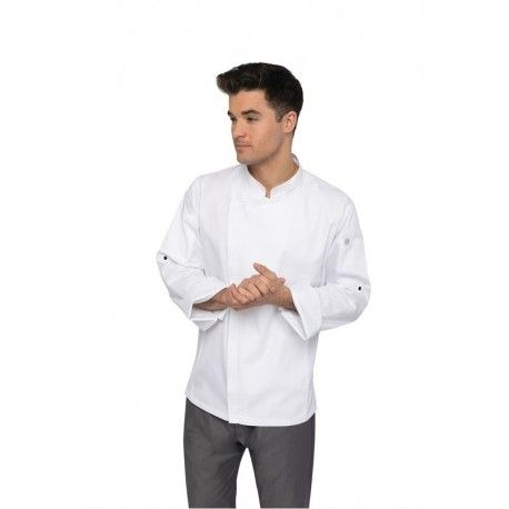 Chef Works Hartford White Zipper Chef Jacket Chef Works,Cooks