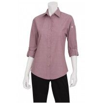 Chef Works Womens Chambray Dusty Rose ShirtChef Works,Cooks Plus