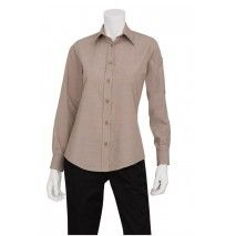 Chef Works Womens Chambray Ecru ShirtChef Works,Cooks Plus