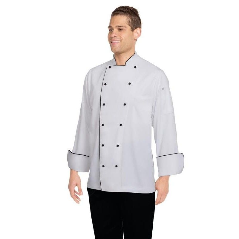 3b6b0efc0b2 Chef Works Newport White Executive Chef Jacket - S to 8XLChef ...