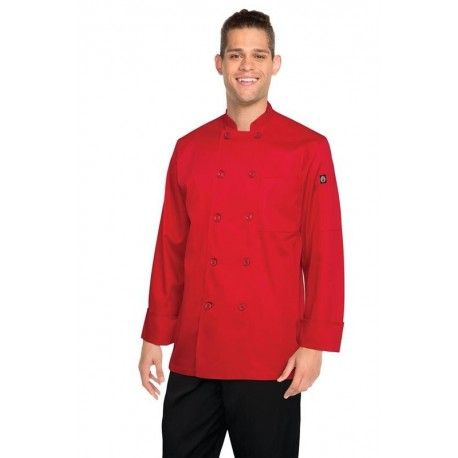Chef Works Nantes Red Chef JacketChef Works,Cooks Plus