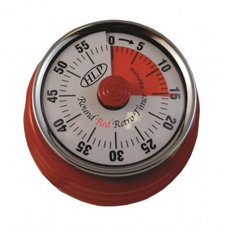 HLP Timer Round Retro Red PLA-952
