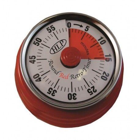 HLP Timer Round Retro Red PLA-952