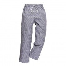 Bromley Chefs Trousers - Navy or Black CheckPortwest,Cooks Plus