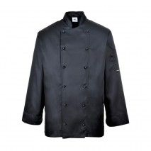 Portwest Somerset Chefs Jacket - Black & White Portwest,Cooks