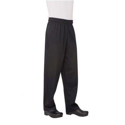 Chef Works Black Baggy Pants NBBP XS - 7XL Chef Works,Cooks Plus
