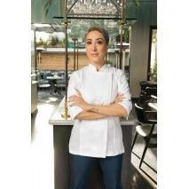 Chef Works Hartford Womens White Zipper Chef Jacket