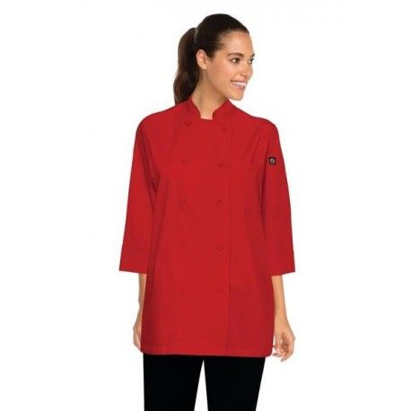 Chef Works 3/4 Sleeve Red Chef Jacket - JLCLChef Works,Cooks