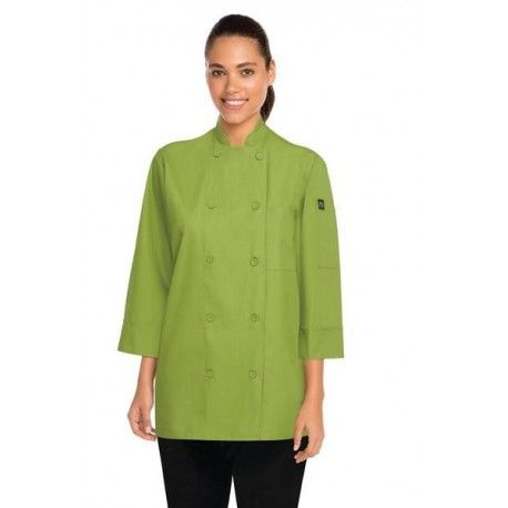 Chef Works 3/4 Sleeve Green Chef Jacket - JLCLChef Works,Cooks