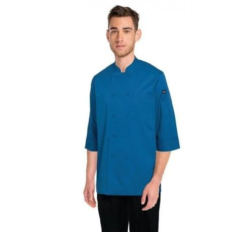 Chef Works 3/4 Sleeve Blue Chef Jacket - JLCL Chef Works,Cooks