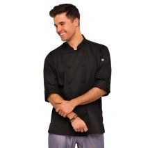 Chef Works Bowden Black Chef Jacket - CBC01 Chef Works,Cooks