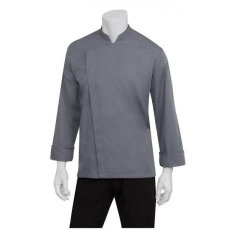 Chef Works Lansing Mens Grey Chef Jacket - BCMC010-GRY Chef