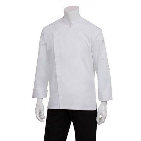 Chef Works Lansing Mens White Chef jacket -BCMC010-WHTChef