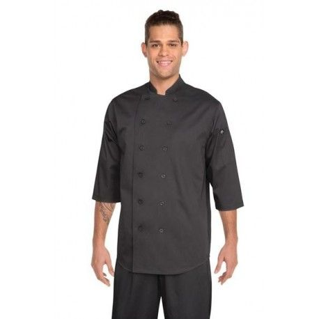 Chef Works Black 3/4 Sleeve Chef Shirt - S100Chef Works,Cooks