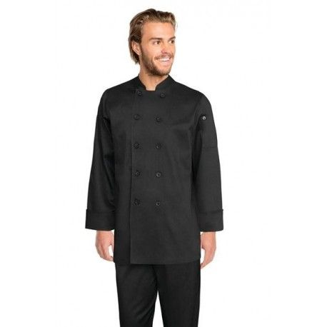 Chef Works Bastille Black Basic Chef Jacket - XS - 7XLChef