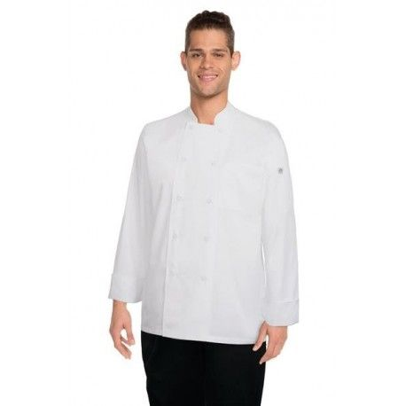 Chef Works White Calgary Cool Vent Chef Jacket - JLLS Chef