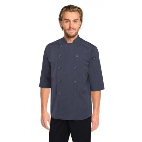 Chef Works Deep Grey 3/4 Sleeve Chef Shirt - SK3001-DGY Chef