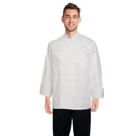 Chef Works Madrid White 100% Cotton Chef Jacket - ECHR Chef