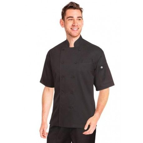 Chef Works Palermo Black Cool Vent Chef Jacket - EWCV-BLK Chef