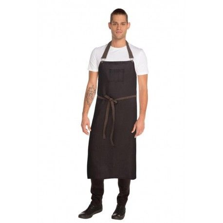 Chef Works Boulder Black Large Bib Apron