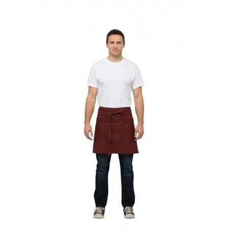 Chef Works Uptown Red/Navy Waist ApronChef Works,Cooks Plus
