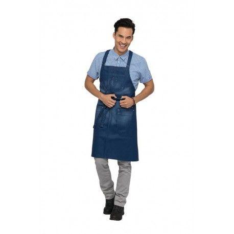 Chef Works Galveston Blue Cross-Back Bib ApronChef Works,Cooks