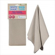 White Magic Eco Cloth TeaTowel Pebble