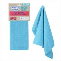 White Magic Eco Cloth TeaTowel Sea BlueWhite magic,Cooks Plus