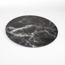 Mondo Cake Board Black Marble 8''/20cm K-Ware,Cooks Plus
